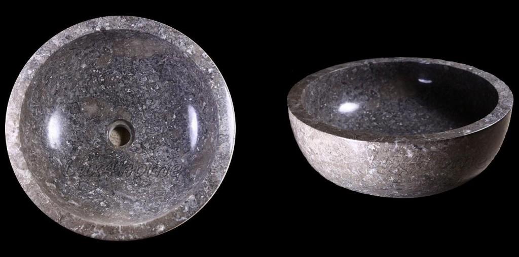 Stone basins Gemma in grey marble for bathroom